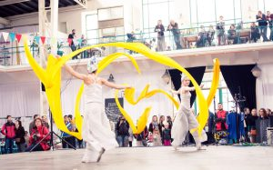 Dancers with Yellow Ribbons - Argolla Acrobatic Show