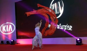 ribbons dancer - car launch event - entertainment Argolla