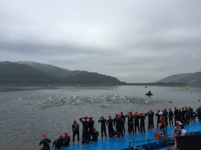 Start of the Swim Wave
