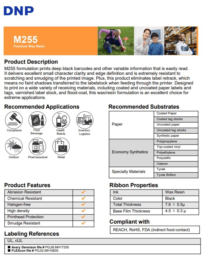 DNP Wax Resin M255