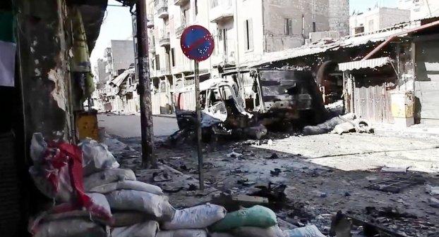 En gate i Aleppo. Bilde: Wikimedia Commons.
