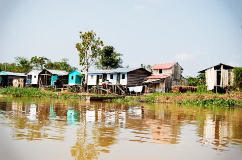 Bilde av landsbyen Cacarica i Colombia.