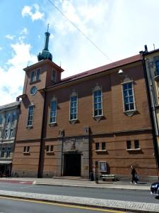 Foto av fasaden på Markus kirke, St. Hanshaugen, Oslo.
