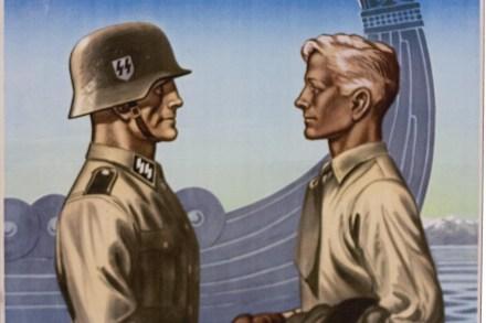 Plakat tegnet av Harald Damsleth. Kilde: Wikimedia Commons.