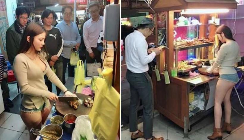 Vendedora de comida asiática se vuelve viral por su belleza