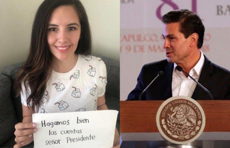"""Joven le """"hace bien las cuentas a Enrique Peña Nieto"""" y se viraliza."""