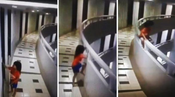 Captan momento en que niña se avienta del undécimo piso de un hotel