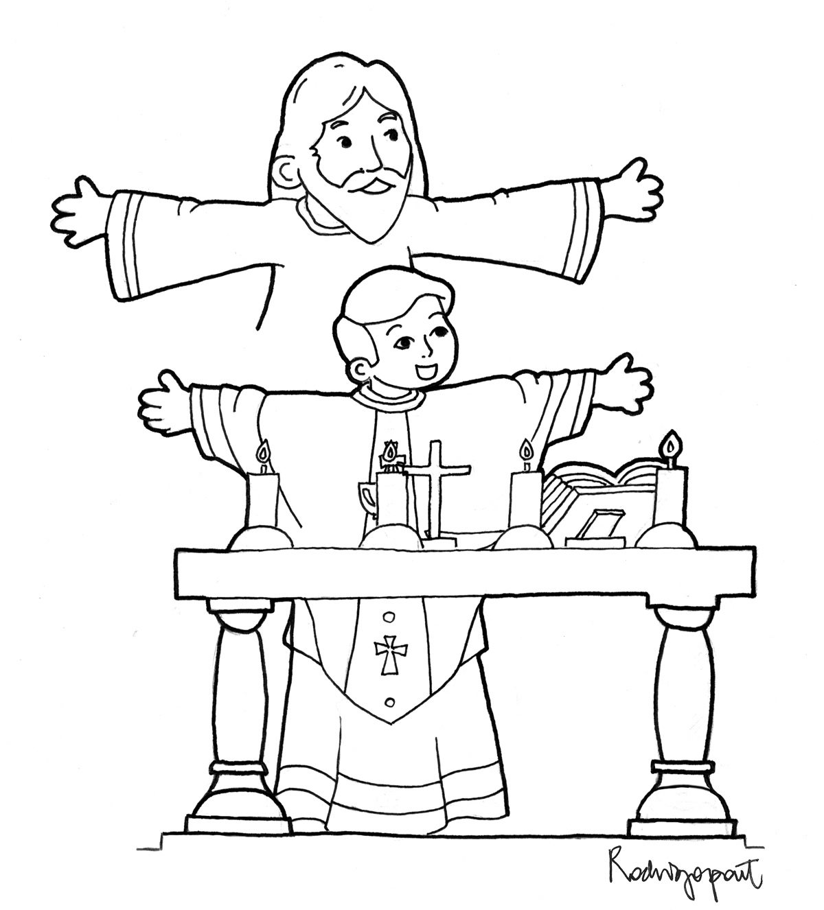 Sacraments Coloring Pages