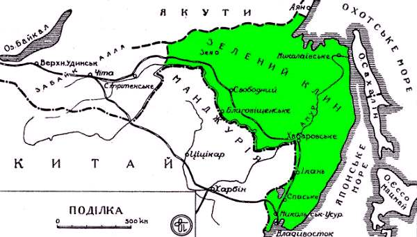 Так выглядел в планах украинских патриотов «Зеленый Клин»