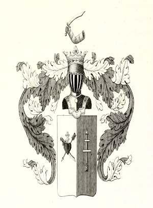 Герб Родзянок. Рука с саблей вверху - и кажется, какой-то благородный герб польско-литовской поры