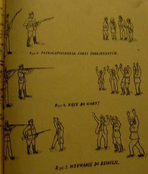 З інструкції комендатури державної поліції про порядок проведення затримання.  1922 рік.  Помітили - руки вгору!  - По черзі до обшуку ...