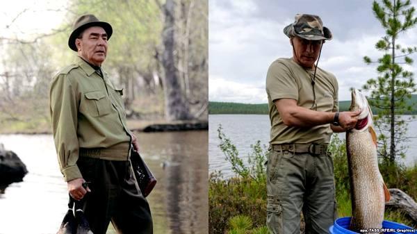 Фото:  Леонид Брежнев, Владимир Путин