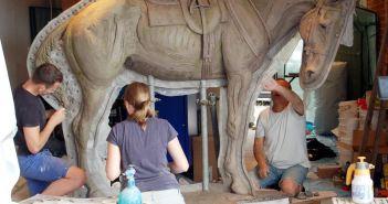 Remount Camp prepares for War Horse Statue