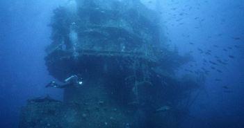 USS Saratoga CV-3 Shipwreck in Bikini Atoll
