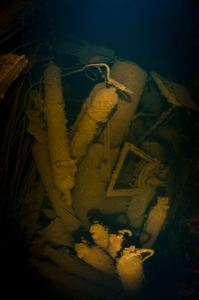 Many torpedos can still be found in Heian Maru. (Credits: Brandi Mueller)