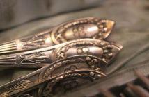 Eva Braun's silverware set. (Credits: Gettysburg Museum of History)