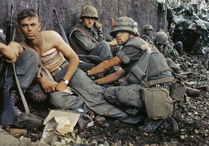 """Twentieth Century """"Angel of Mercy"""" -- D. R. Howe (Glencoe, MN) treats the wounds of Private First Class D. A. Crum (New Brighton, PA), """"H"""" Company, 2nd Battalion, Fifth Marine Regiment, during Operation Hue City - Battle of Hue"""