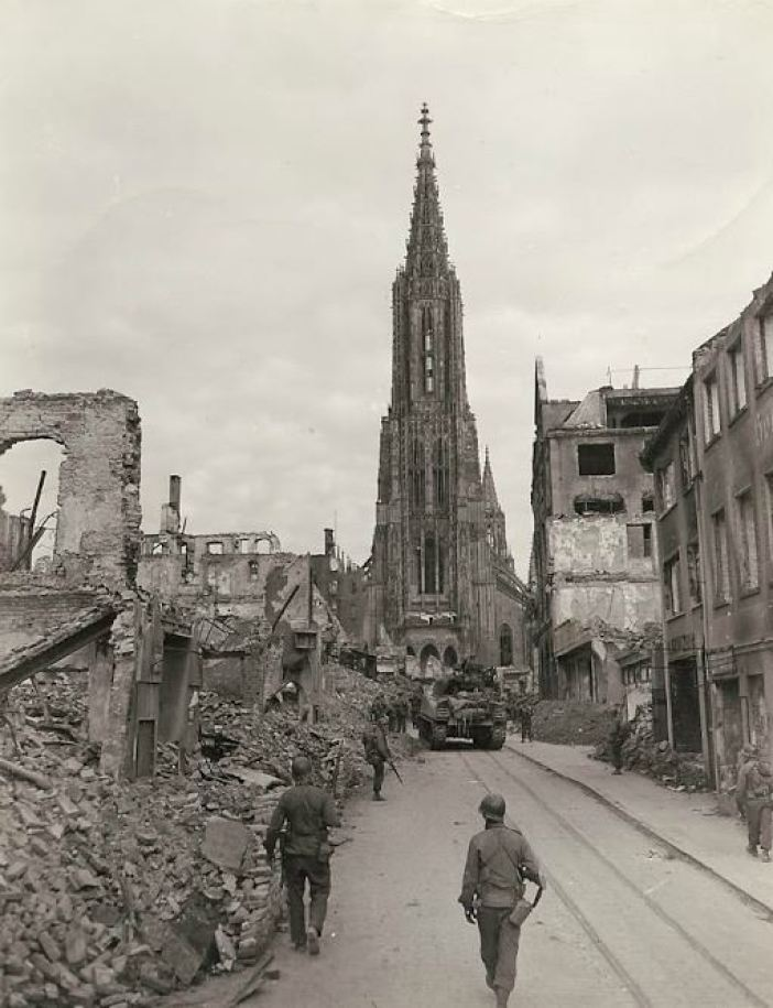 Destroyed village of Ulm, Germany.