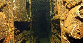Inside the French submarine Rubis wreck (Credits: Aldo Ferrucci)