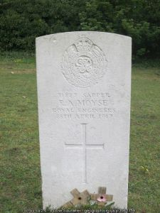Headstone of R.A. Moyse
