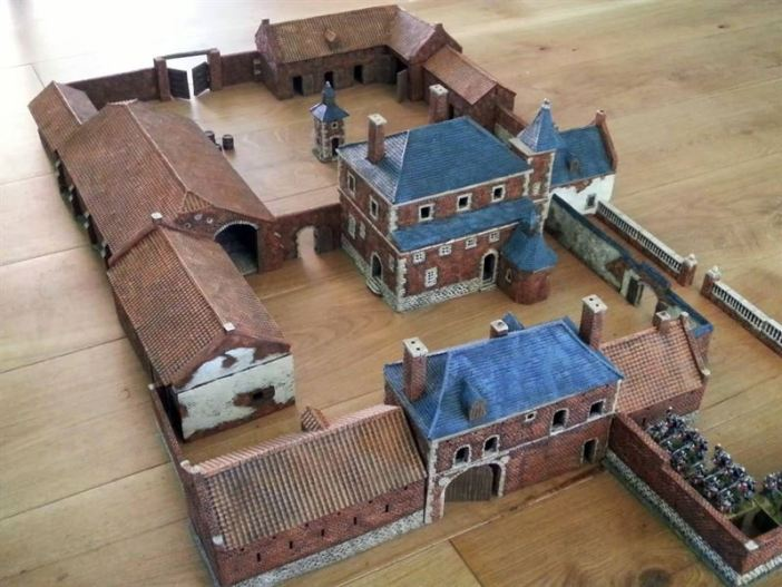 Diorama of 'Chateau Hougoumont'