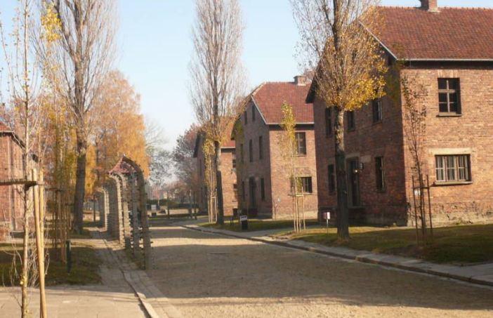 An Auschwitz throughway