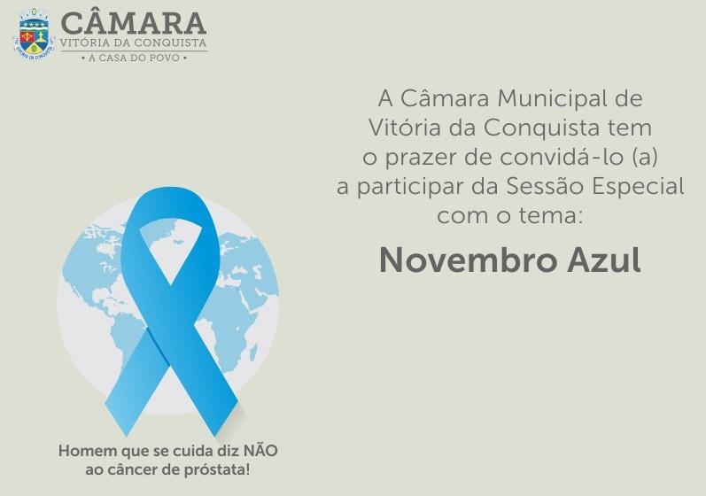 Imagem Prevenção ao câncer de próstata é tema de sessão especial na Câmara
