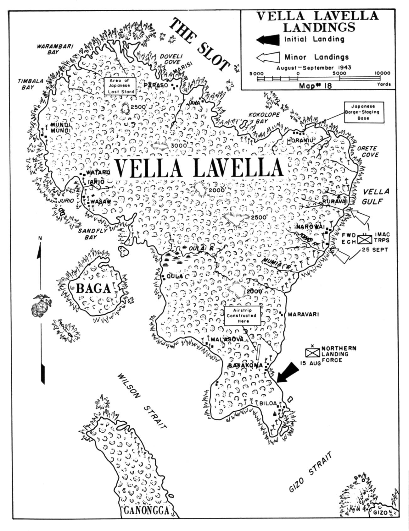 Operation Toenails Vella Lavella