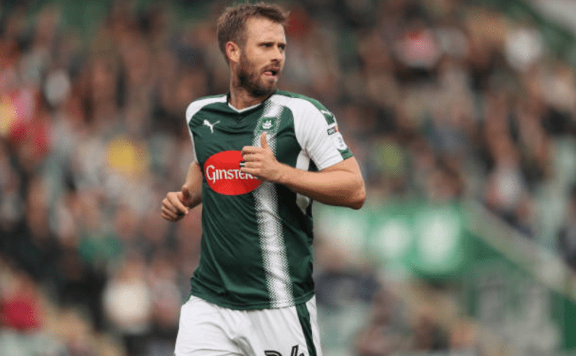 An image of David Fox in the 2017/18 Plymouth Argyle home kit