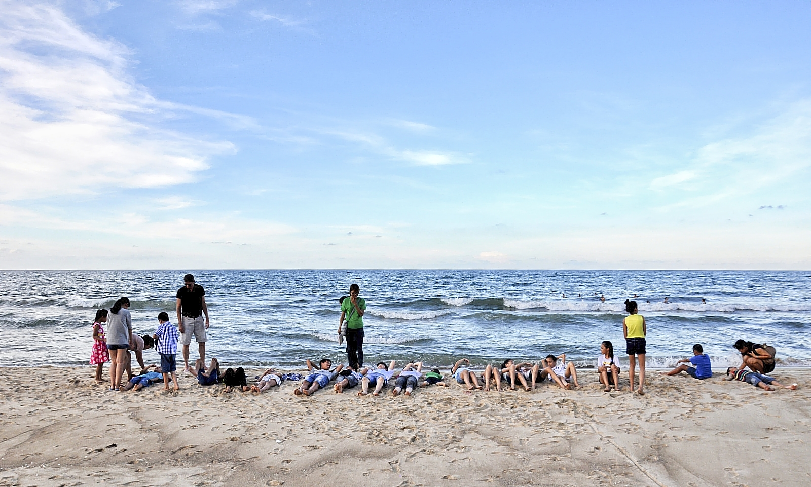 Nature education on the beach