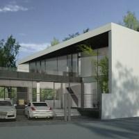 Locuinta pe teren triunghiular | proiect casa moderna 30