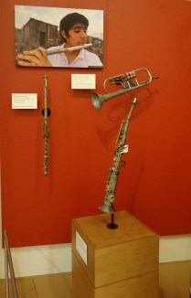 Wind instruments made of recycled materials
