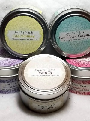 Soy Candles in 6 oz Tin