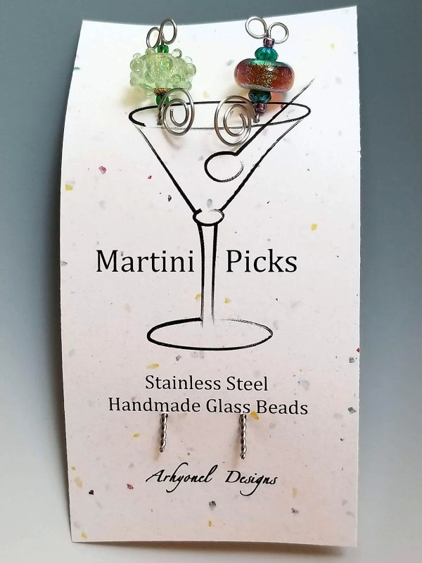 Lampwork Martini Picks Example