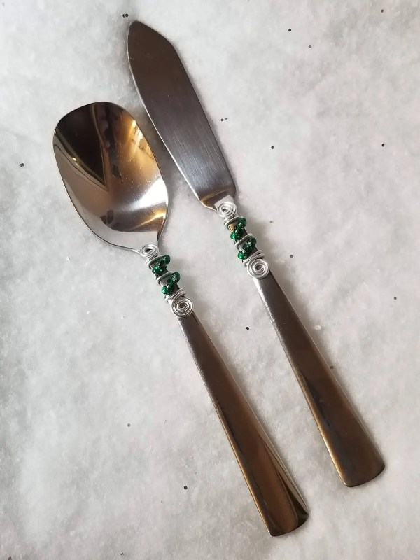 Beaded Spoon & Spreader Set