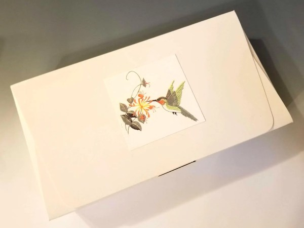 Copper & Enamel Hummingbird Feeder Box