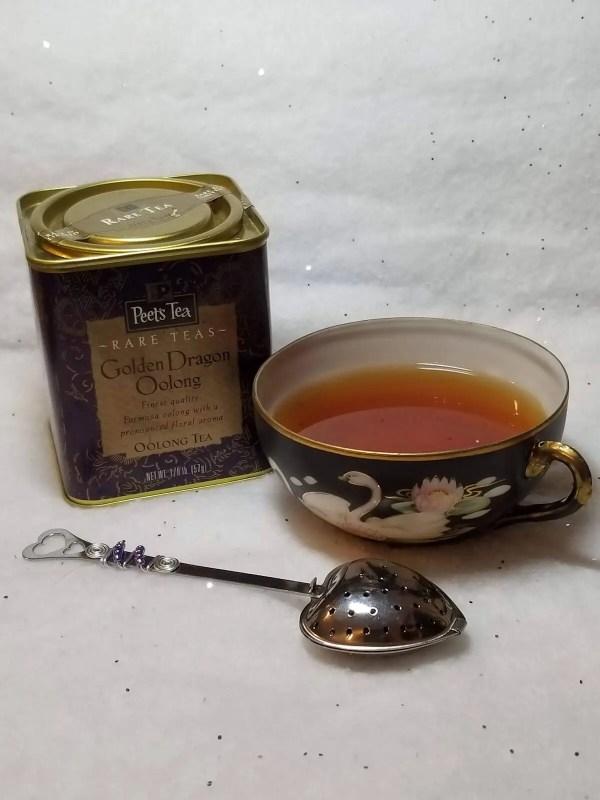 Beaded Heart Shaped Tea Infuser