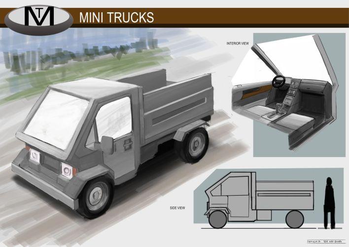 Concept Vehicle Mini Trucks 02