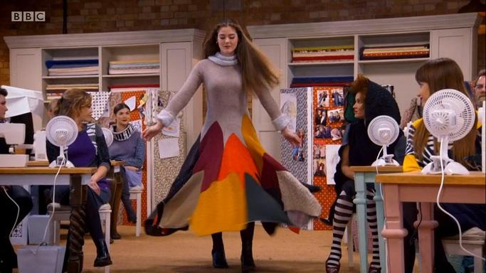 twirlign knit fire dress