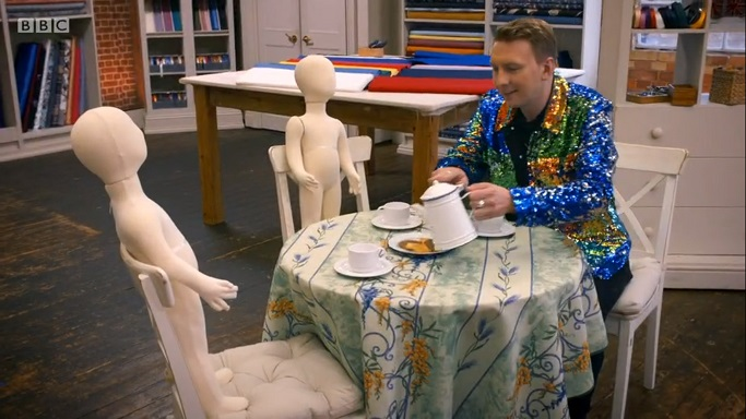 joe lycett mannequin tea party