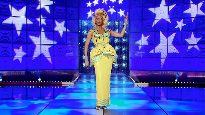 rupaul yellow gown