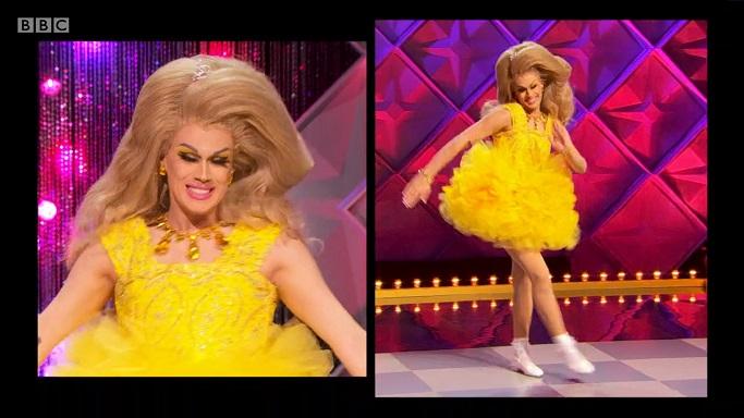 Lemon pageant gown