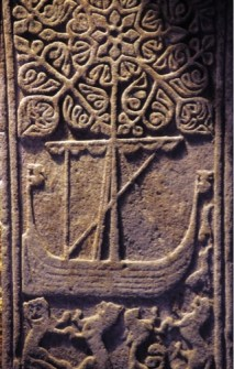 Galley on an Iona Tombstone