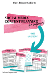 The Ultimate Guide to Social Media Content Planning for Beginners + FREE Workbook with 57 content ideas!