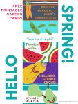 Hello Spring! FREE Printable Garden Cards!