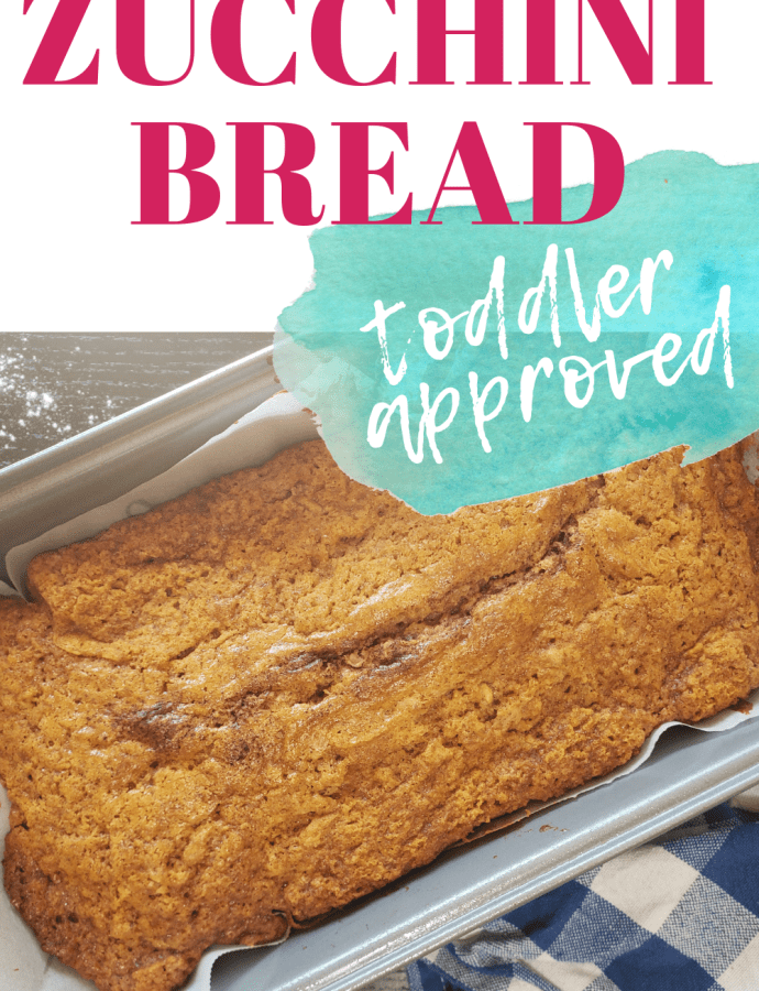 Toddler Approved Zucchini Bread