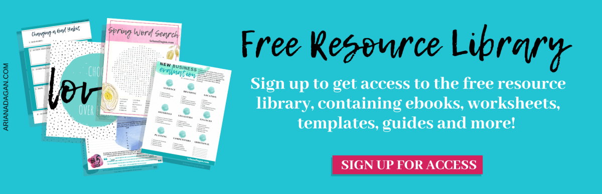 Ariana Dagan Free Resource Library