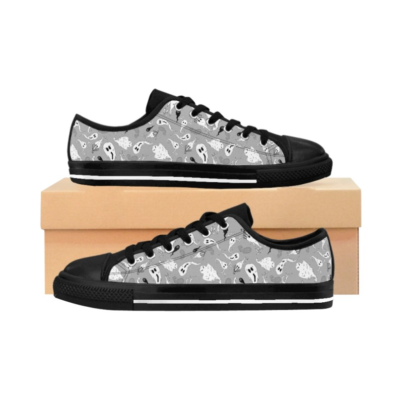 Gray Ghostie Party Women's Sneakers