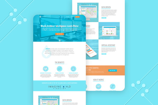 Emagin Website Design - Mockup