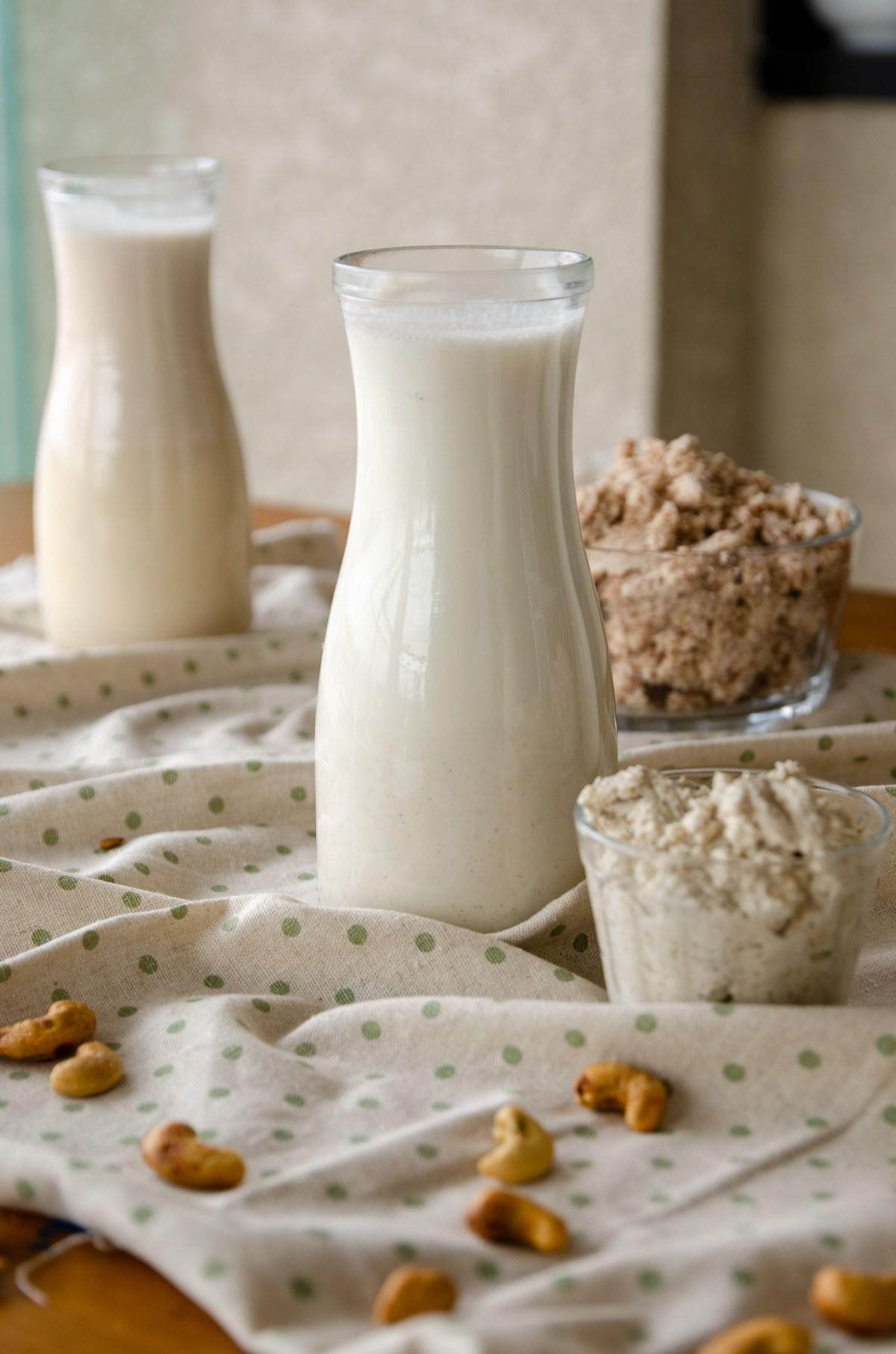 leite de castanha de caju caseiro